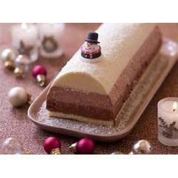 Buche Mousse aux 3 chocolats